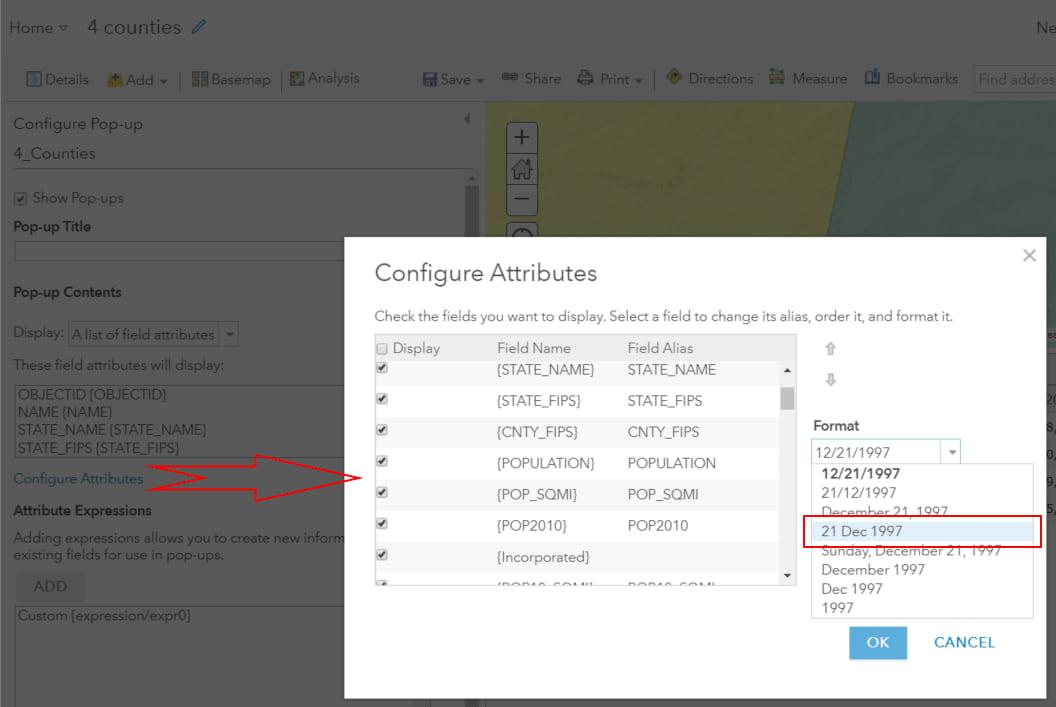 Proper Date format in Configure Popup