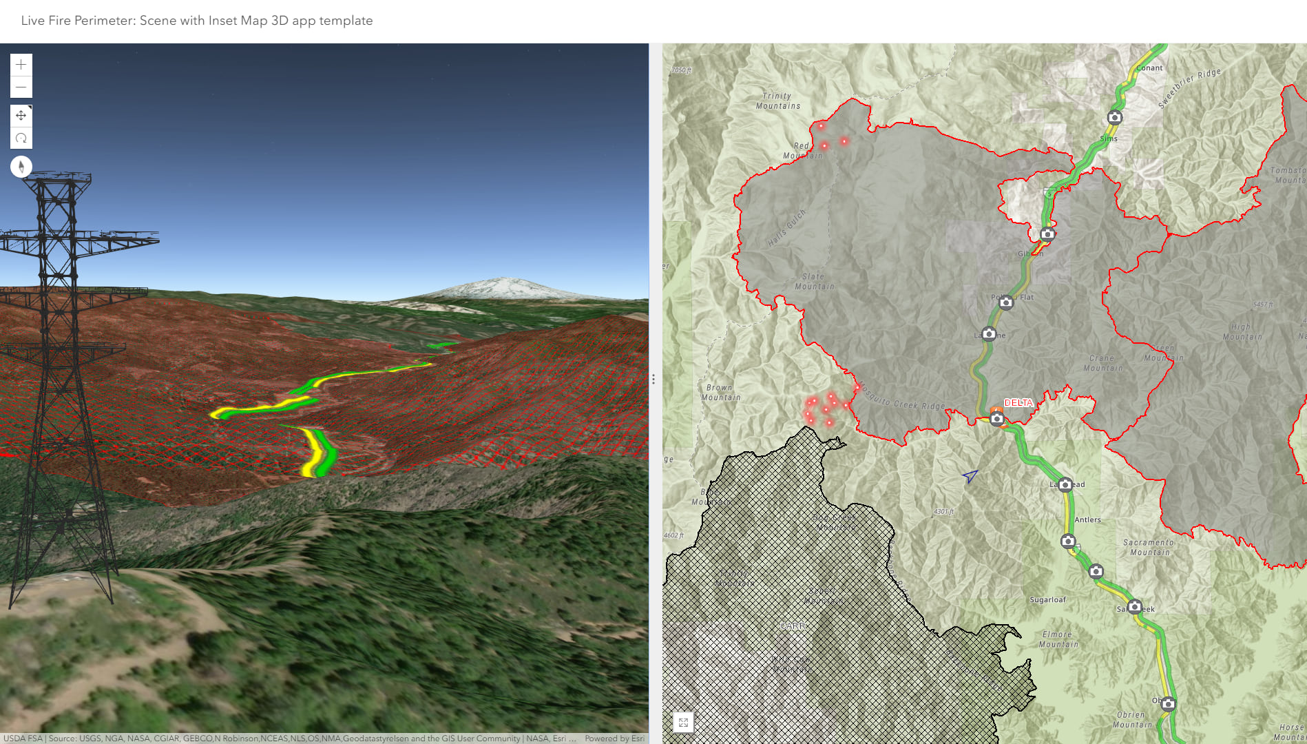 New 3D Web App Template: Scene with Inset Map