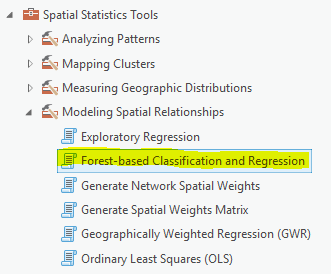 Forest-based Classification and Regression in ArcGIS Pro 2 2