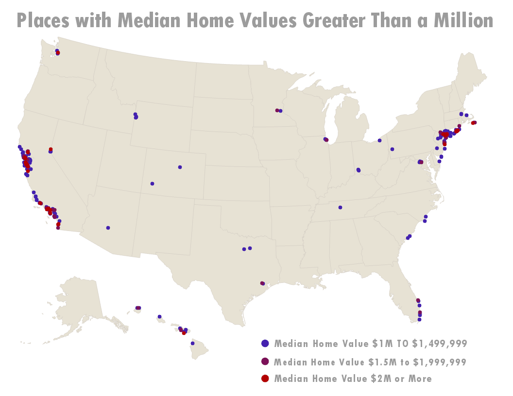 2018 High Median Home Values
