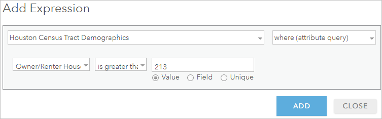 Add an attribute expression in the Derive New Locations tool