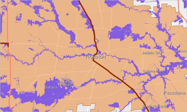 Houston boundary, evacuation routes, and flood risk area layers