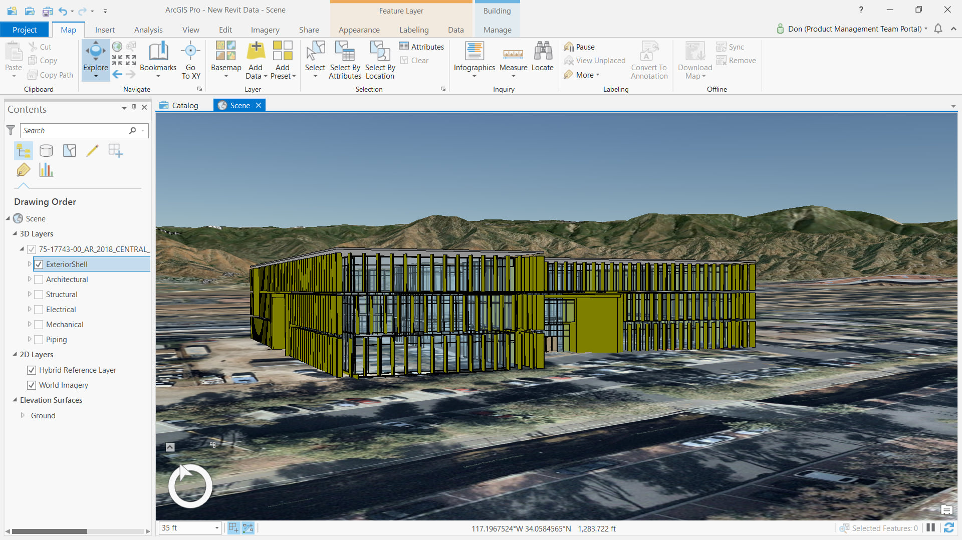 Coordinates in Revit for use in ArcGIS