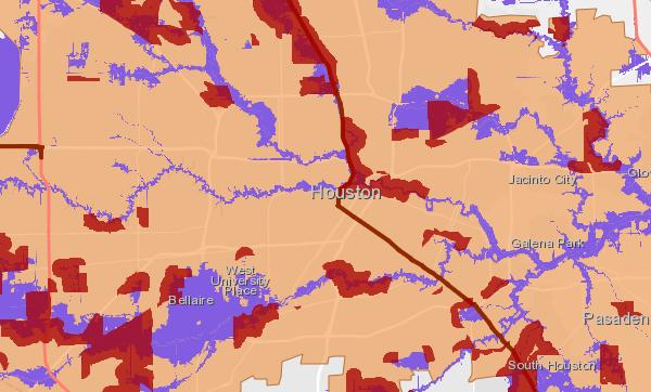 Highest risk flood zones