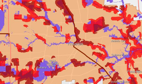 Medium high flood risk