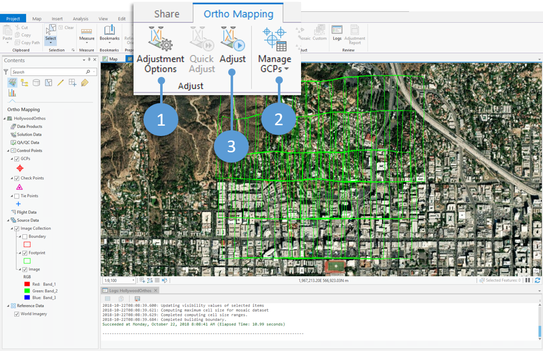 The ortho mapping workspace and next steps