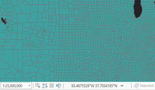 Query layer showing county boundaries when zoomed in