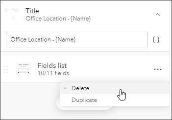 Delete fields list