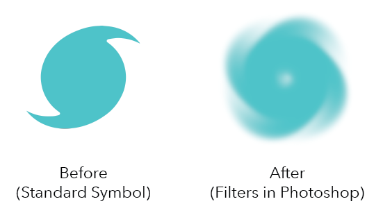 After (Filters in Photoshop)Before (Standard Symbol)