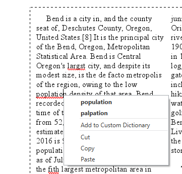 Spell-check and columns in layout text in the ArcGIS Pro 2.3 beta
