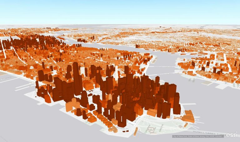 View New York City scene layers in ArcGIS Earth