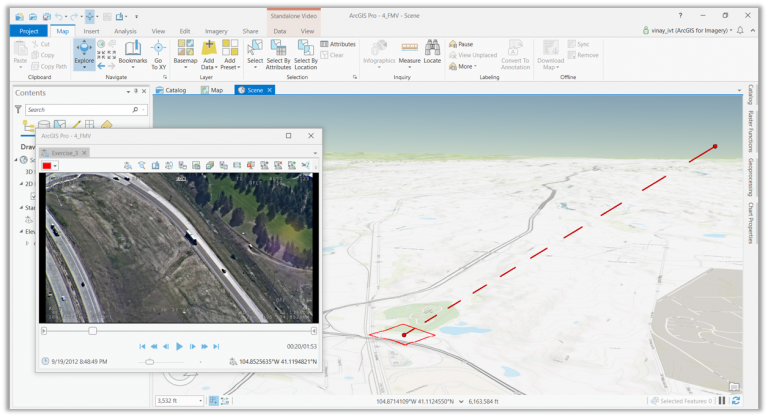 Motion imagery (Full Motion Video) in ArcGIS