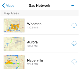 Gas Network preplanned map areas