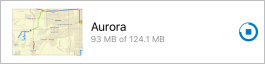 Aurora map area downloading