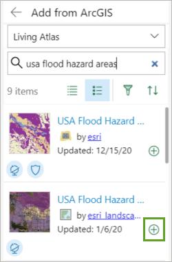 Flood Hazard Areas layer selected