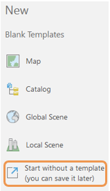 ArcGIS Pro project templates