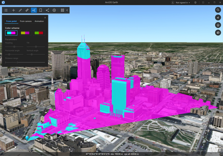 Perform viewshed analysis in ArcGIS Earth