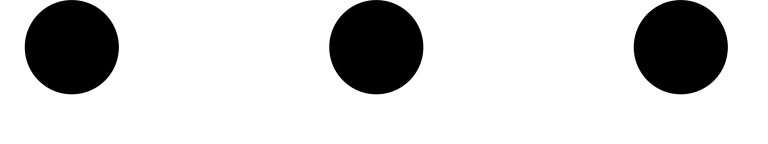 Three black dots.