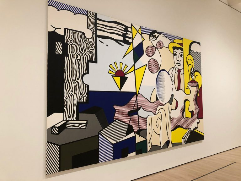 Roy Lichtenstein, Figures with Sunset, 1978. Taken by the author at the San Francisco Museum of Modern Art in December 2018.