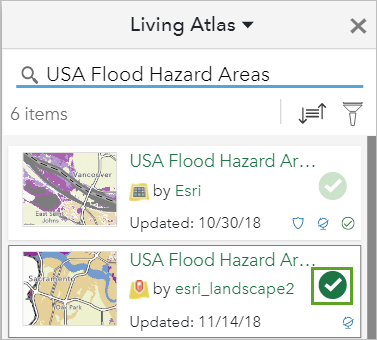 Flood Hazard Areas layer selected