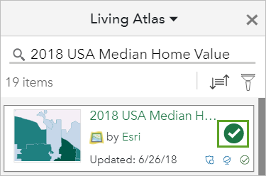 2018 USA Median Home Value selected