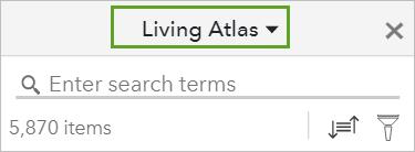 Living Atlas selected