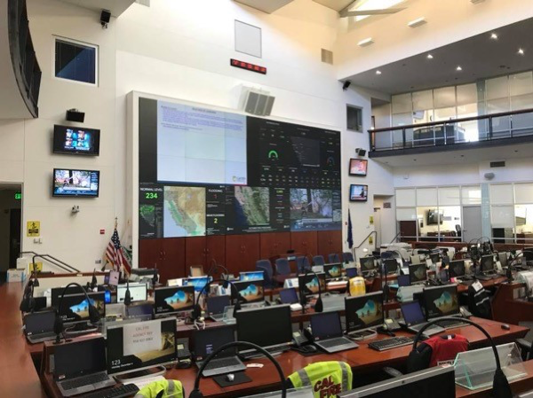 A dashboard in an operations center