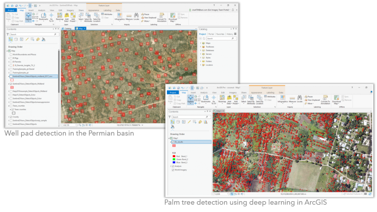 Deep learning tools in ArcGIS Pro