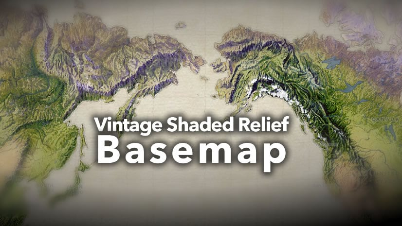 Vintage Shaded Relief Basemap