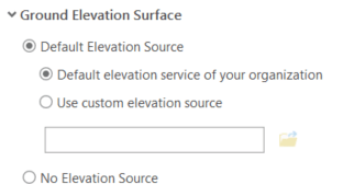 Default Elevation Settings in ArcGIS Pro