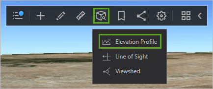Elevation Profile option of Interactive analysis menu