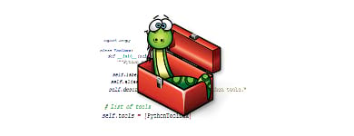 Cartoon python in toolbox