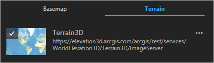 Terrain3D elevation service