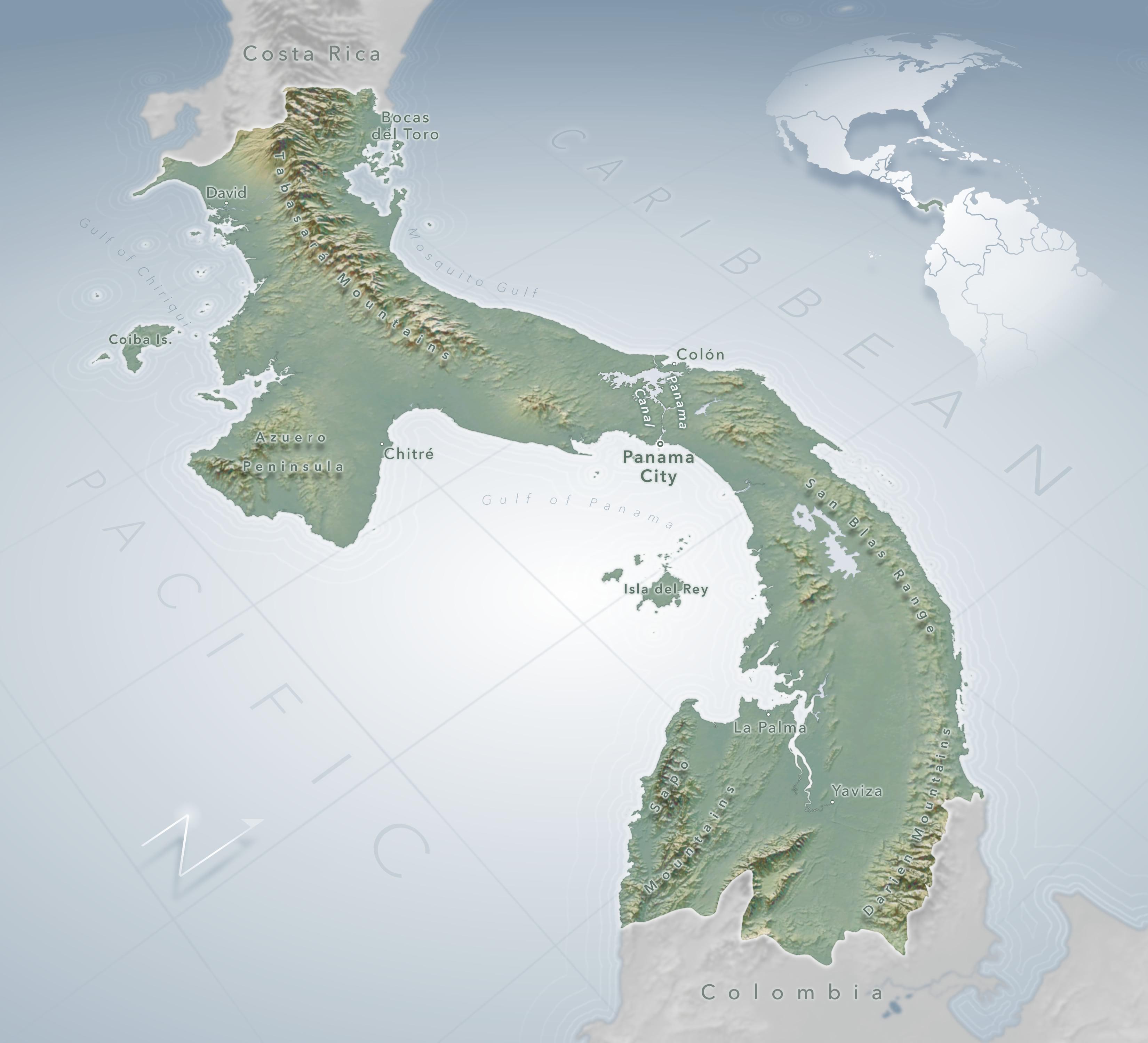 Image of: Making This Map Of Panama