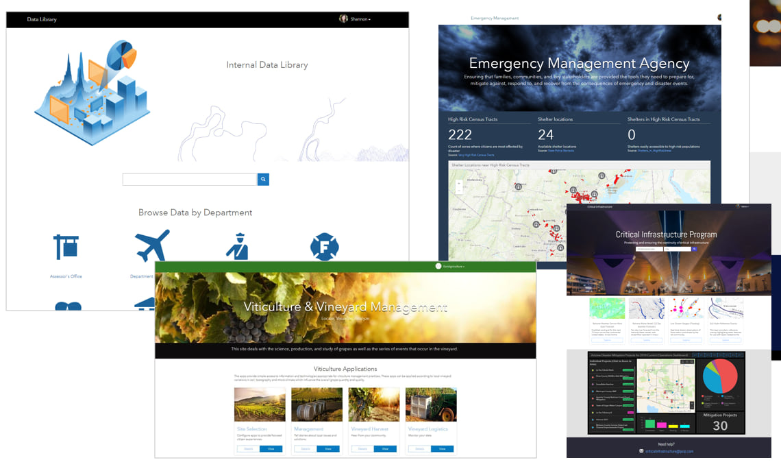 Example ArcGIS Enterprise Sites