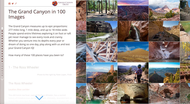 The cover for The Grand Canyon in 100 Images