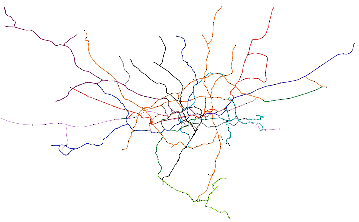 Subway Map Before 1933.Make A Transit Map In Arcgis Pro