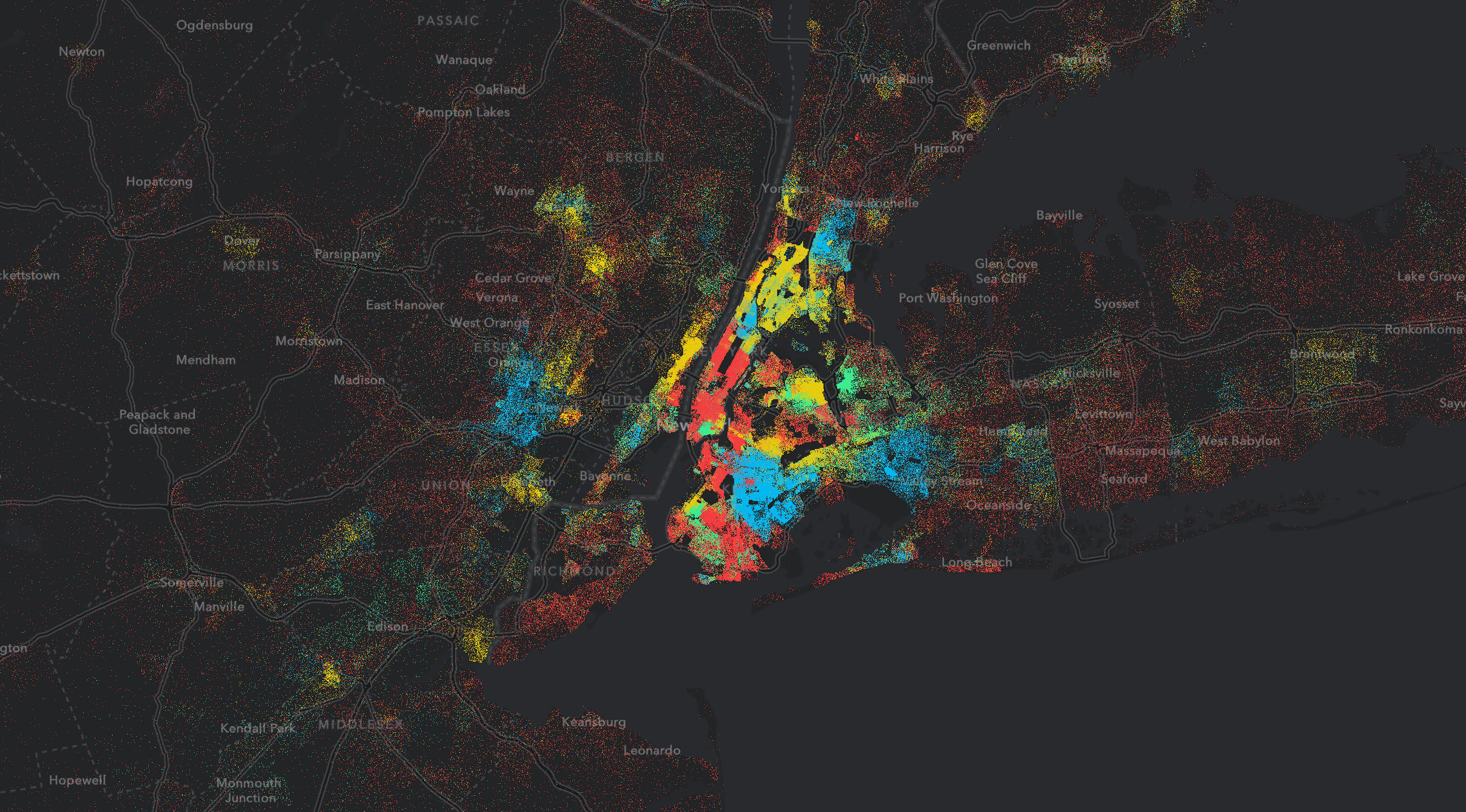 Dot density maps for the web on