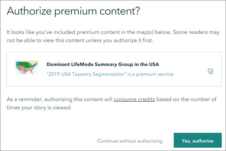 Authorize premium content