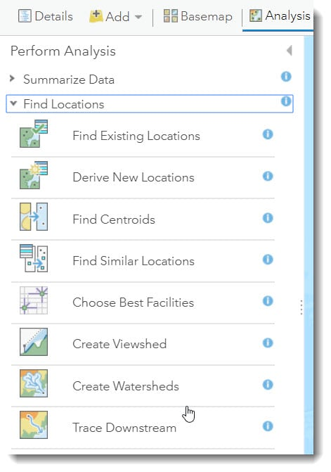 Create Watersheds and Trace Downstream in ArcGIS Online