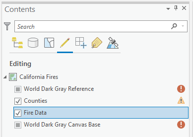 List by Editing in Contents pane
