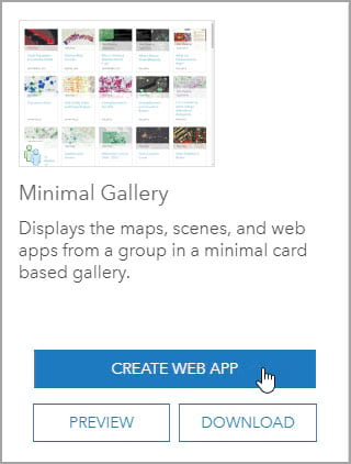 Minimal Gallery card