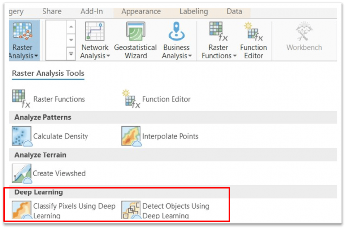 ArcGIS Pro client to invoke deep learning on ArcGIS Enterprise