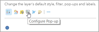 Configure pop-up