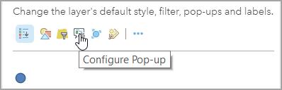 Configure pop-up
