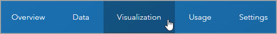 Visualization tab
