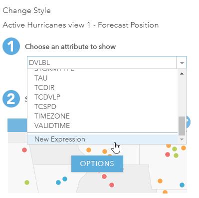 Change Style window in ArcGIS Online.