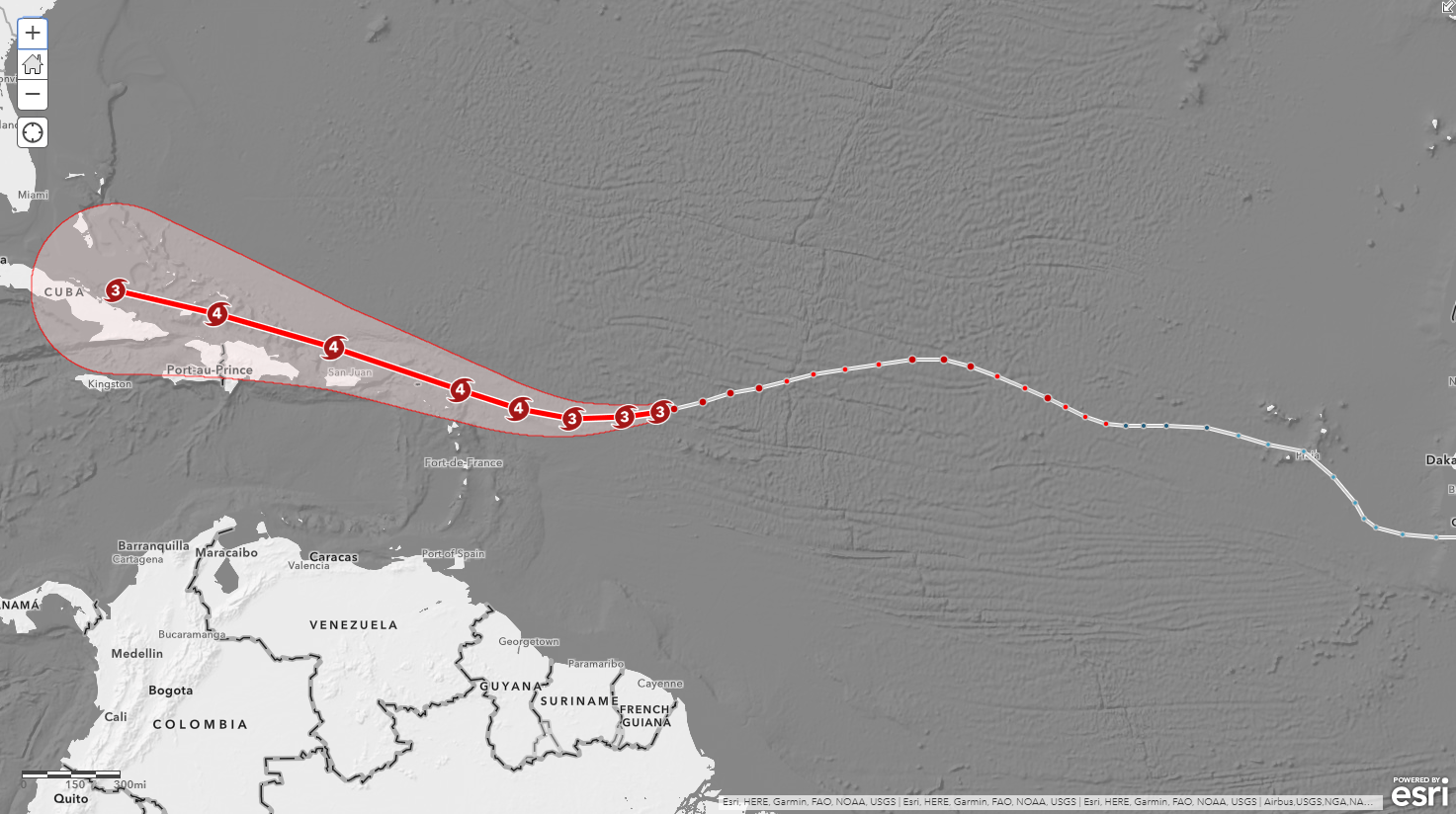 Hurricane Irma at 18,000,000