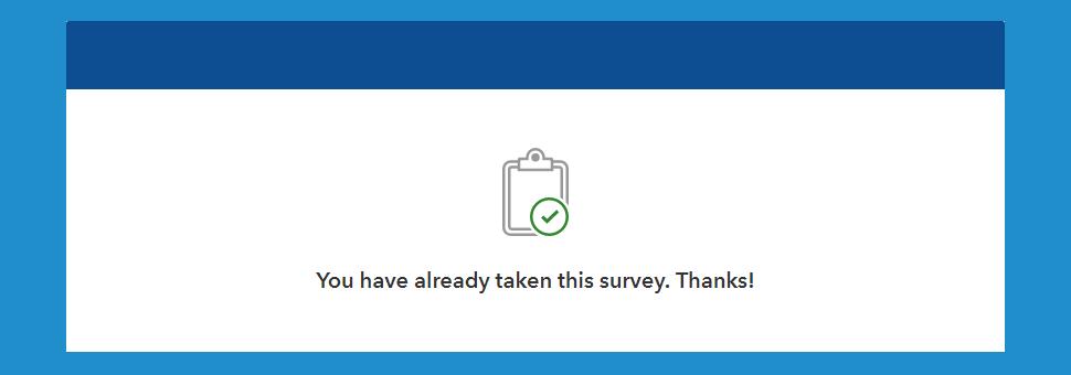 Already taken survey