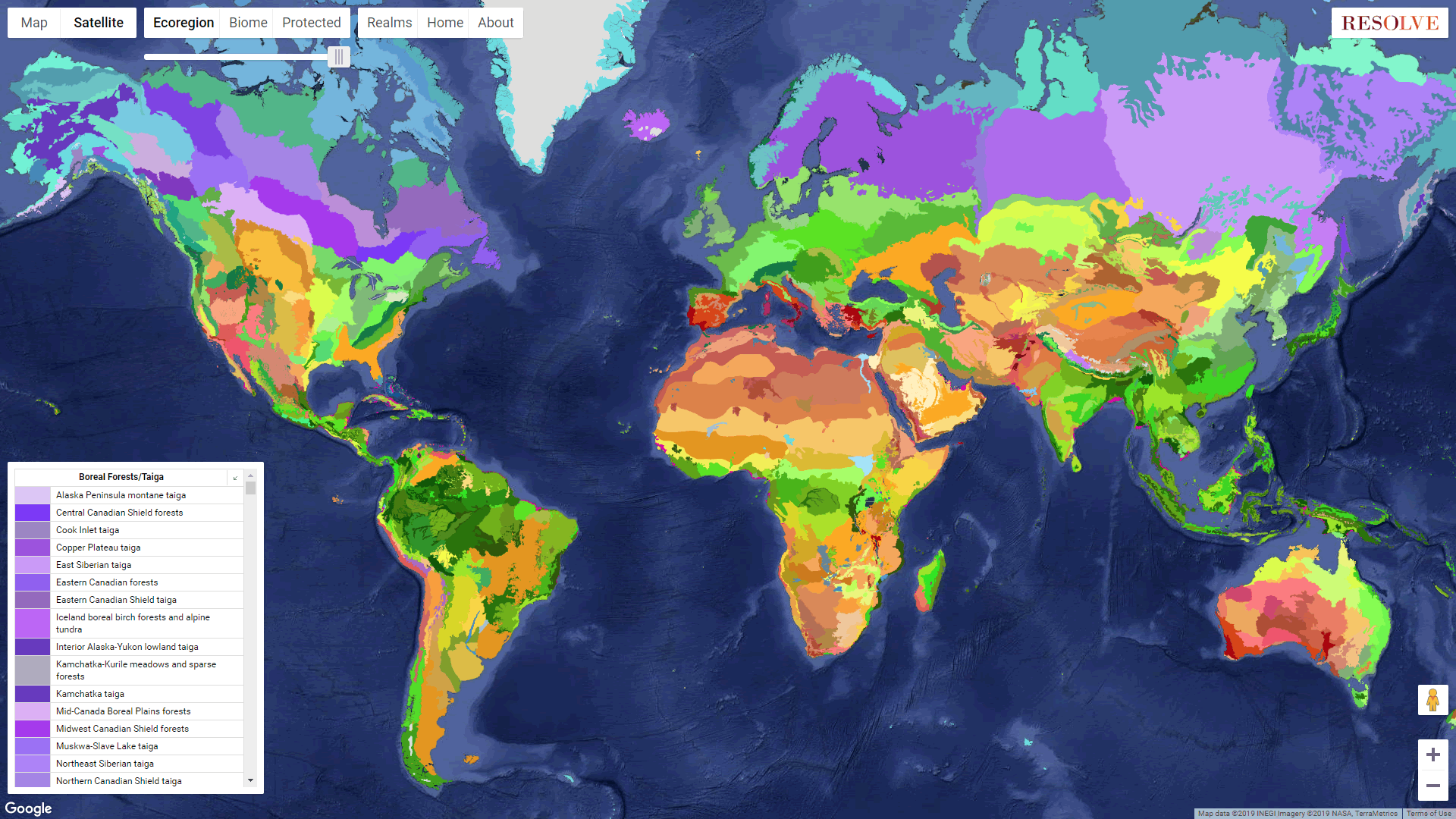 Click to be swept away into the wondrous world of open ecoregion data...